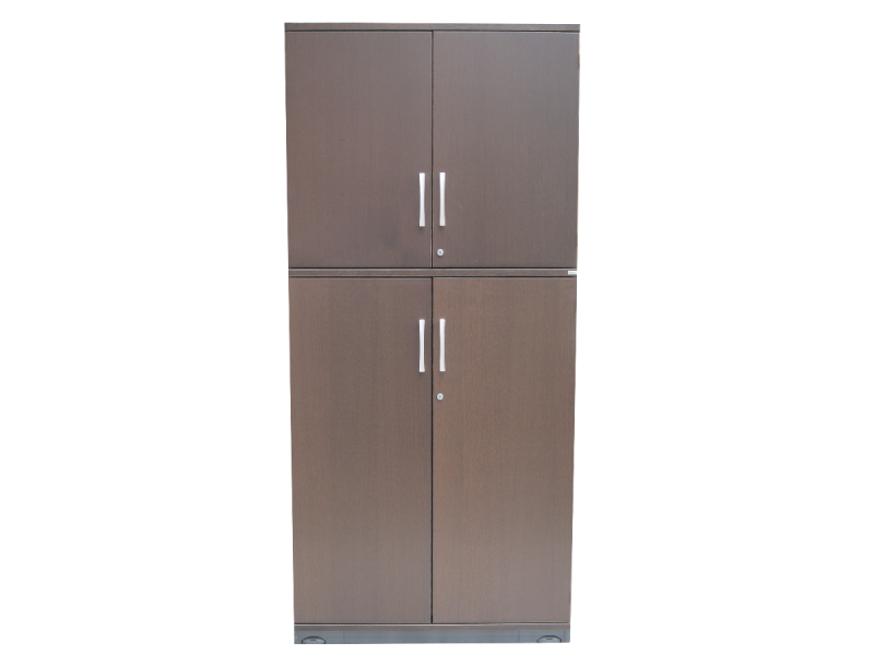 armoire haute kinnarps marron adopte un bureau. Black Bedroom Furniture Sets. Home Design Ideas