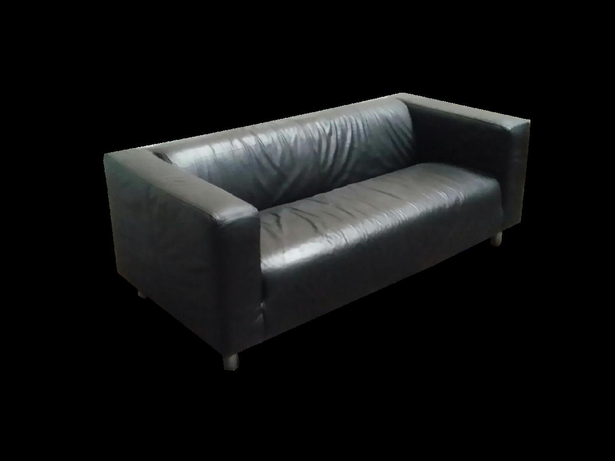 canap cuir noir adopte un bureau. Black Bedroom Furniture Sets. Home Design Ideas