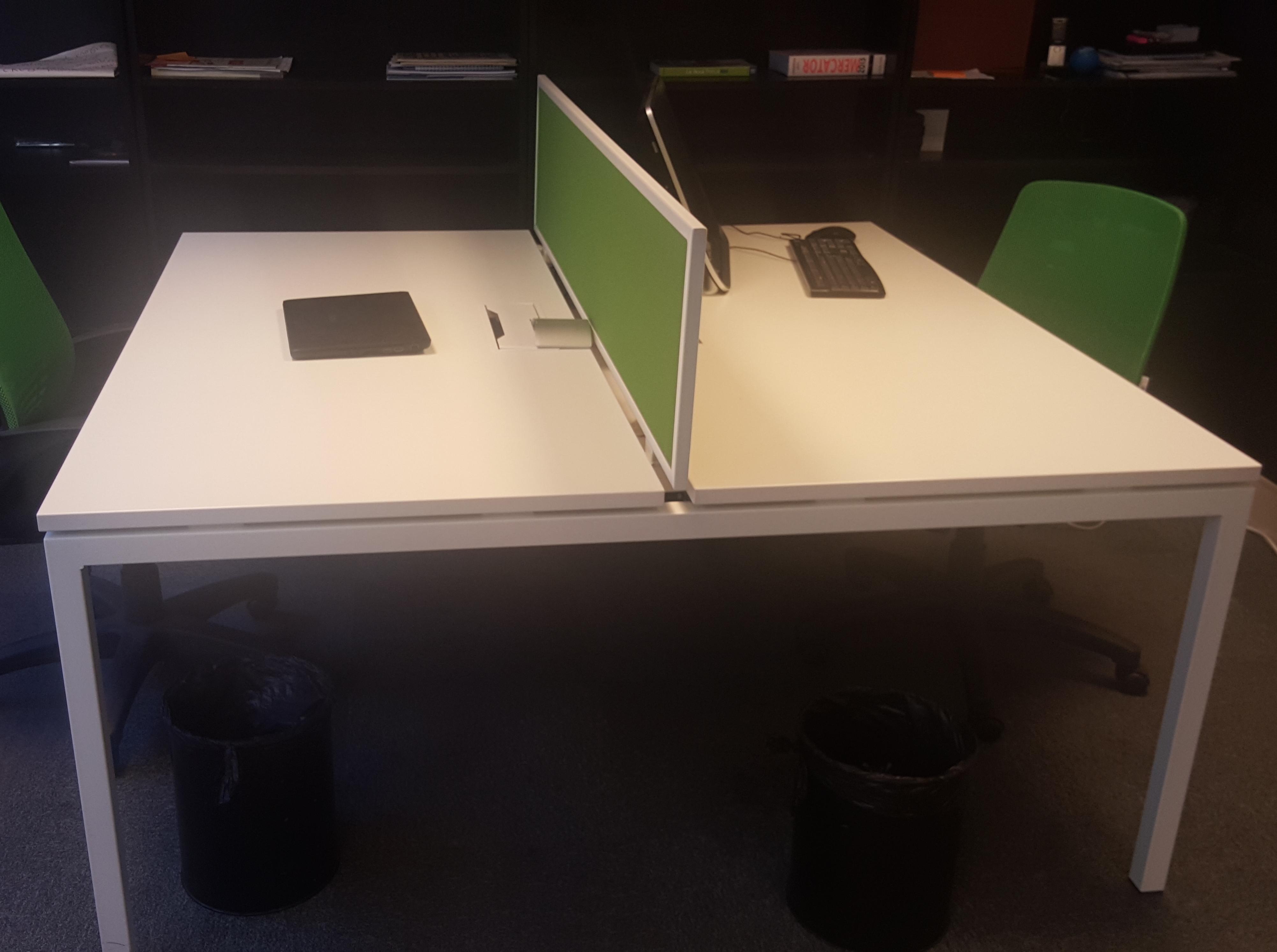 Bench double sierra blanc adopte un bureau for Mobilier bureau occasion 64