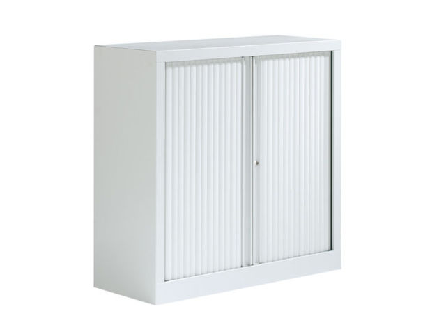armoire basse blanche steelcase 100x100 adopte un bureau. Black Bedroom Furniture Sets. Home Design Ideas
