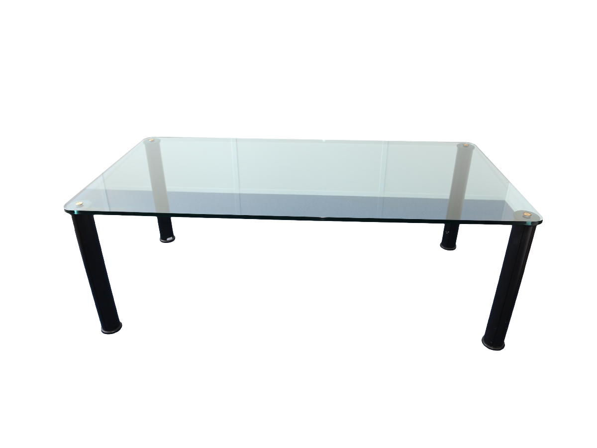 Table verre design d 39 occasion adopte un bureau - Bureau en verre transparent ...