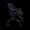 Chaise de bureau d'occasion en tissu noir sur roulette