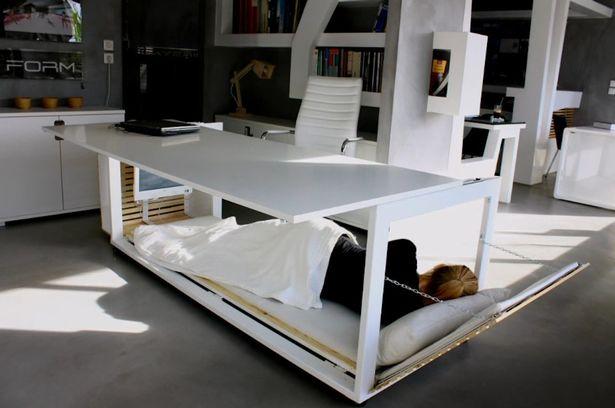 bureau blanc pour dormir