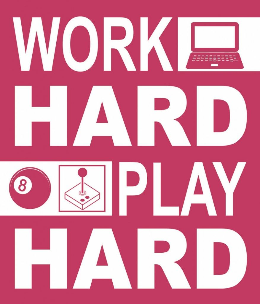 affiche work hard play hard