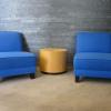 fauteuil d'accueil bleu d'occasion