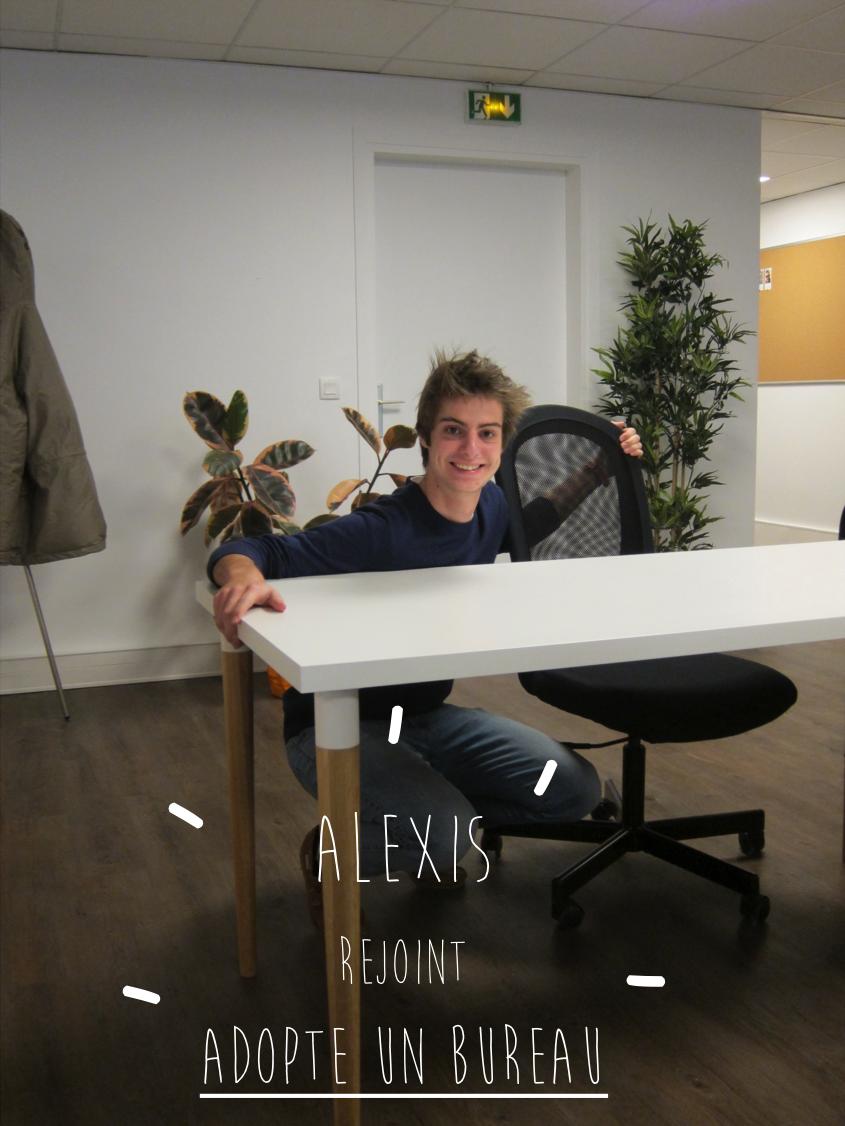 alexis rejoint l 39 quipe d 39 adopte un bureau adopte un bureau. Black Bedroom Furniture Sets. Home Design Ideas
