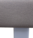 Banc haut steelcase gris foncé vue de près