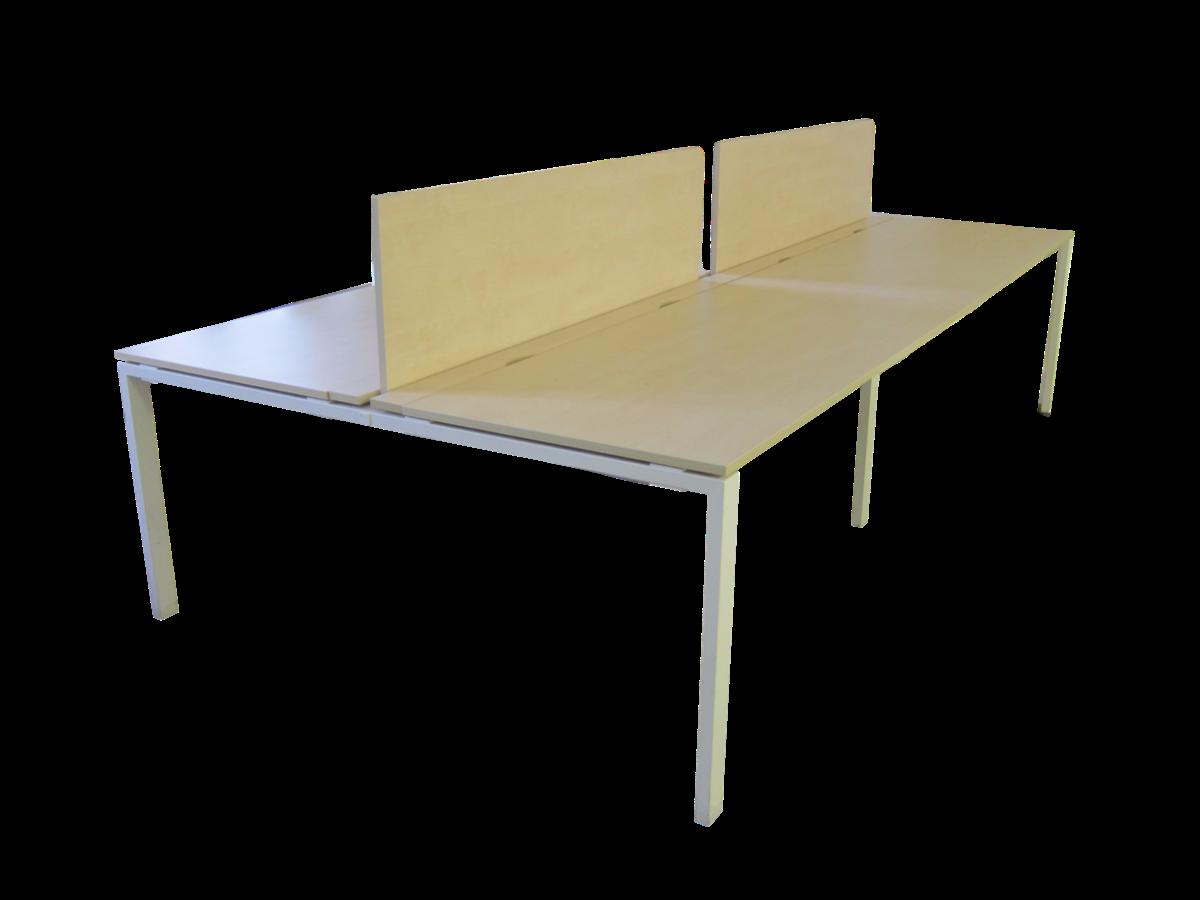 bureau open space 4 personnes occasion bois clair. Black Bedroom Furniture Sets. Home Design Ideas