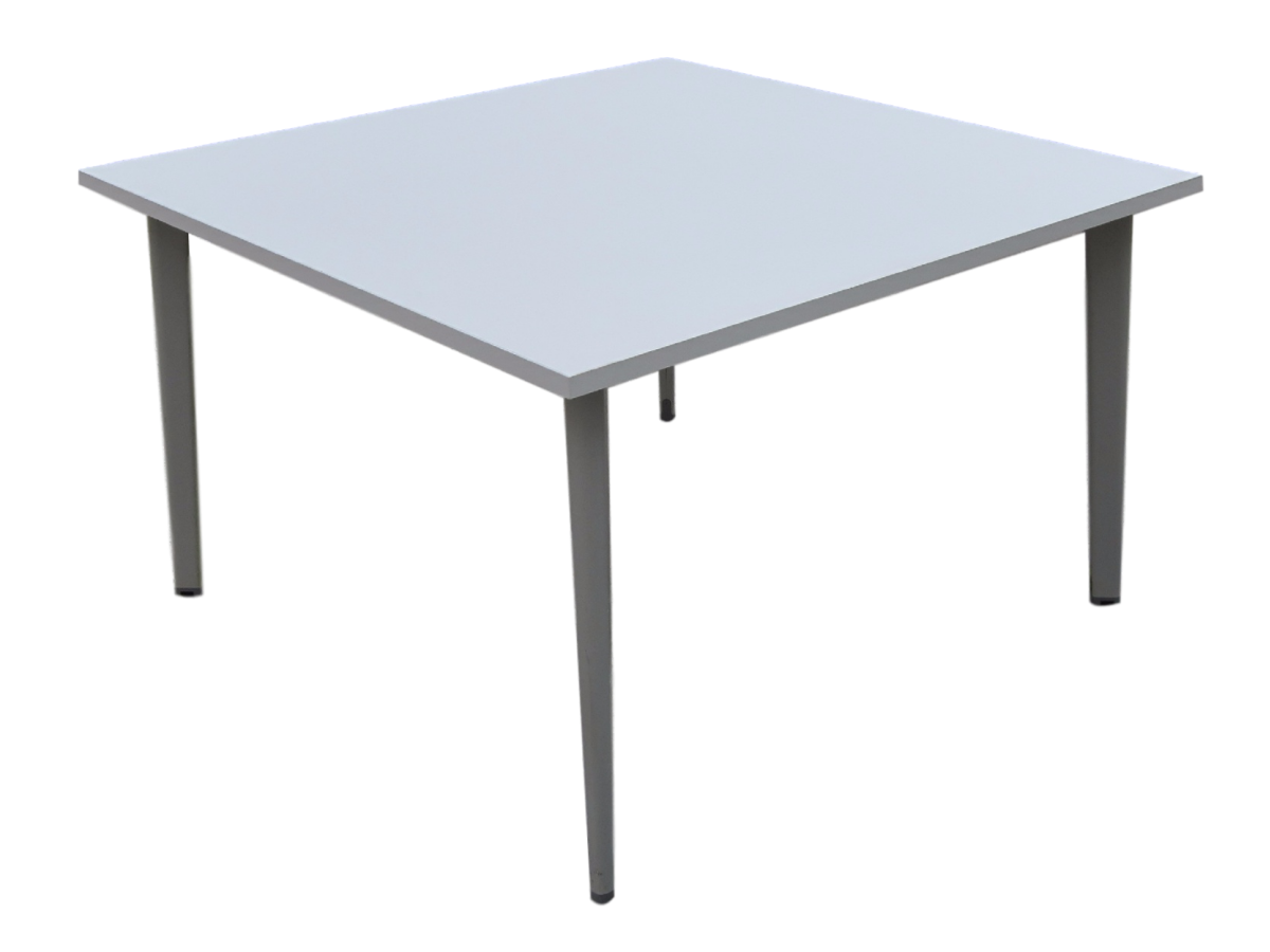 Table carr e plateau neuf 120 x 120 cm for Table blanche carree