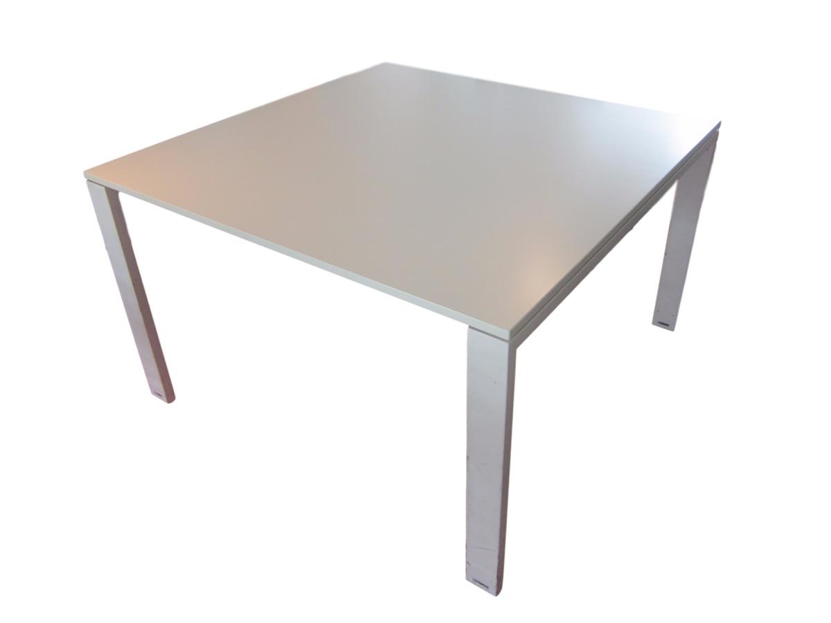 Table de r union blanche d 39 occasion carr e 120 x 120 for Table de bureau