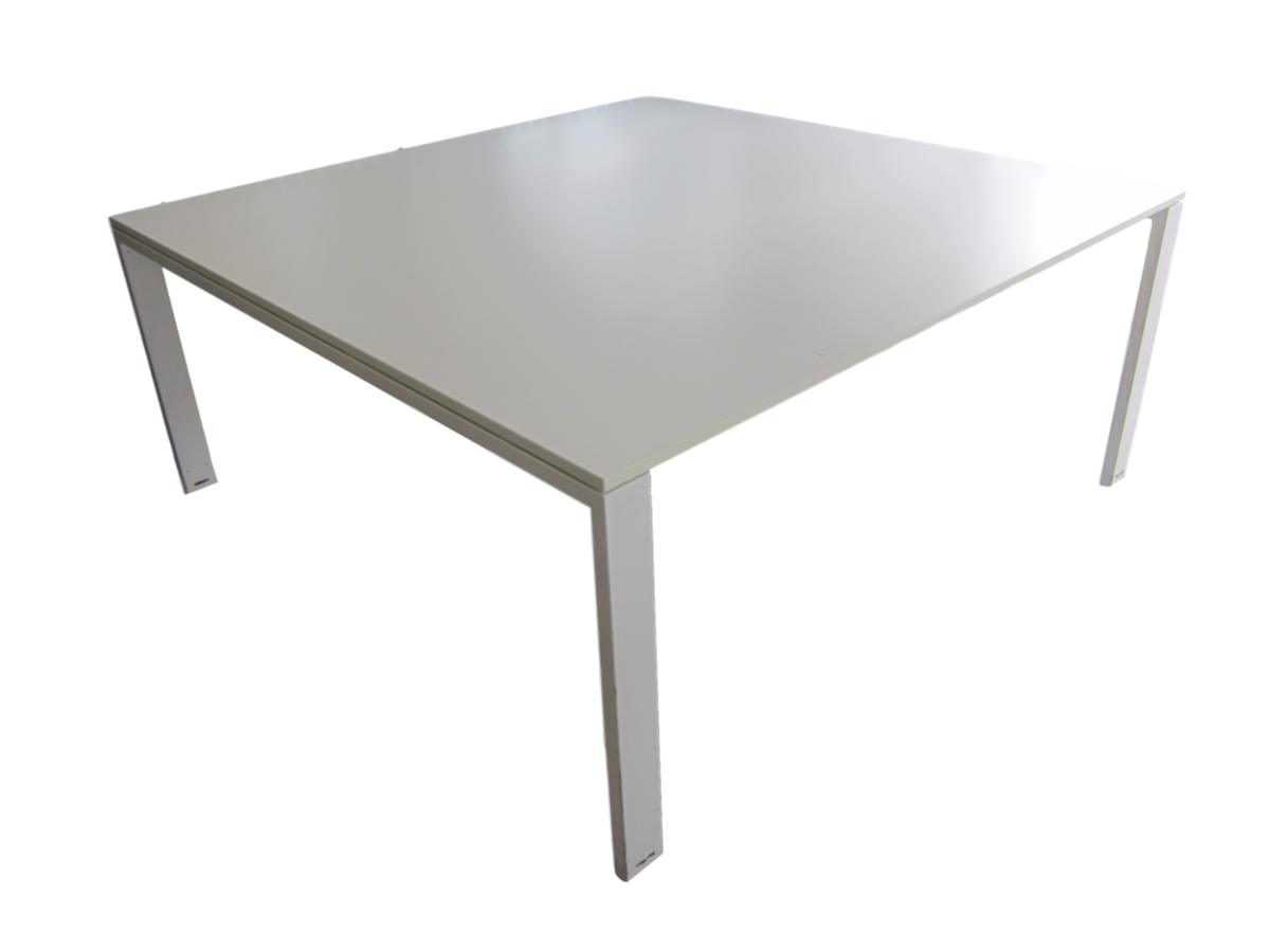 table de r union blanche d 39 occasion carr e 168 x 168