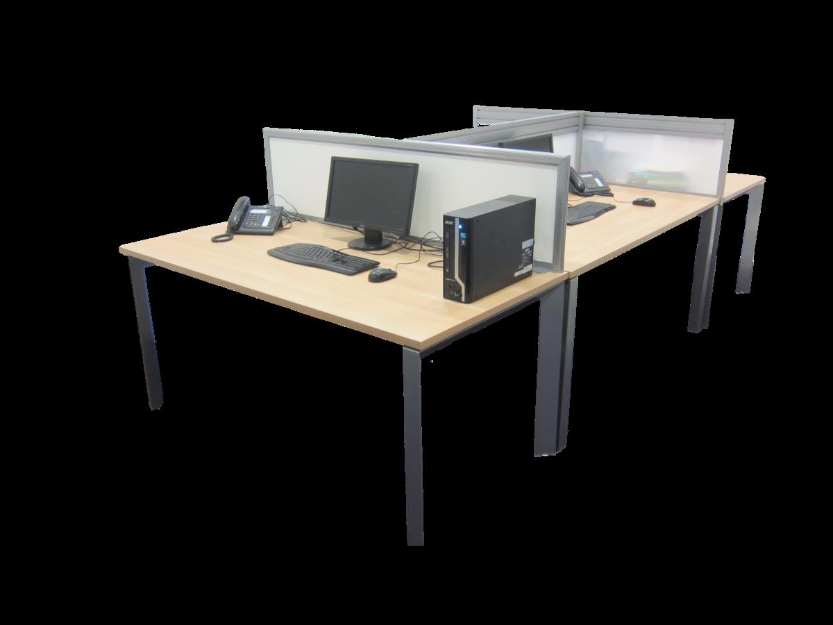 Bureau open space bois clair adopte un bureau