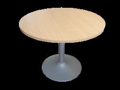 Table ronde bois foncé