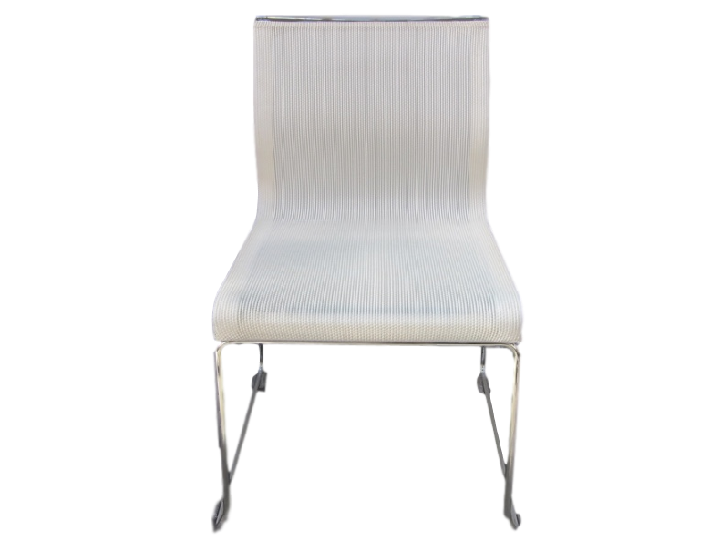 Chaise visiteur ICF empilable Blanche
