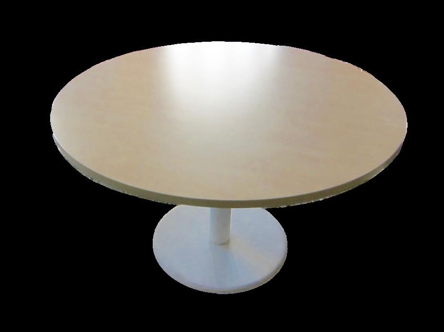 Table Ronde Bureau Table Ronde 110 Cm Acacia Alu Goujon