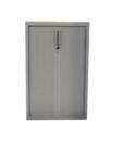 Armoire a rideaux grise 80x130 - modele d'exposition
