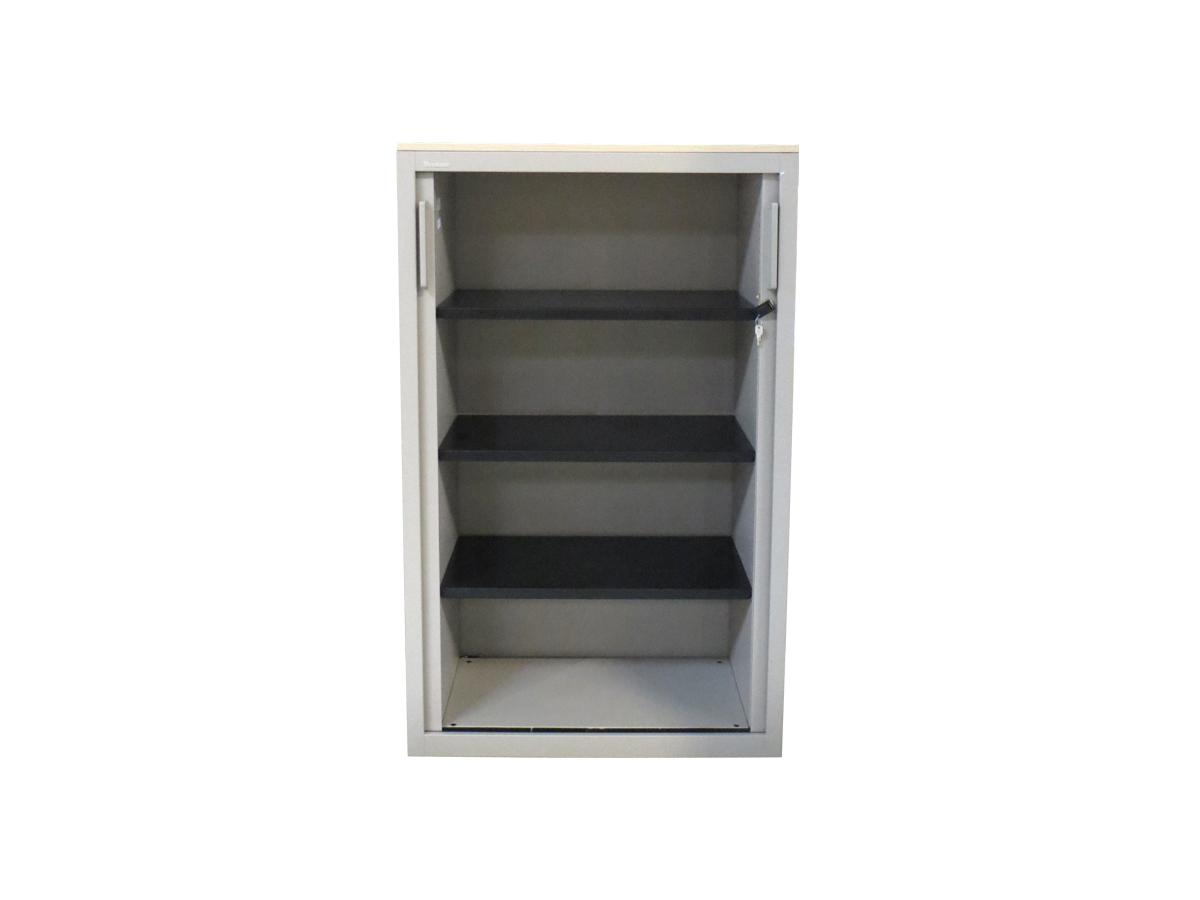 Armoire rideaux grise 80x130 mod le d 39 exposition for Mobilier bureau occasion 64