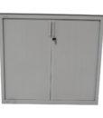 Armoire a rideaux blanche 120x110 - modele d'exposition