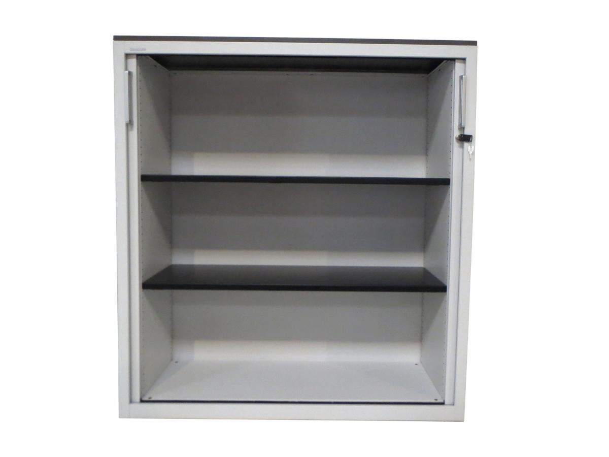 Armoire rideaux blanche 120x130 mod le d 39 exposition for Armoire bureau blanche