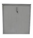 Armoire a rideaux blanche 120x130 - modele d'exposition