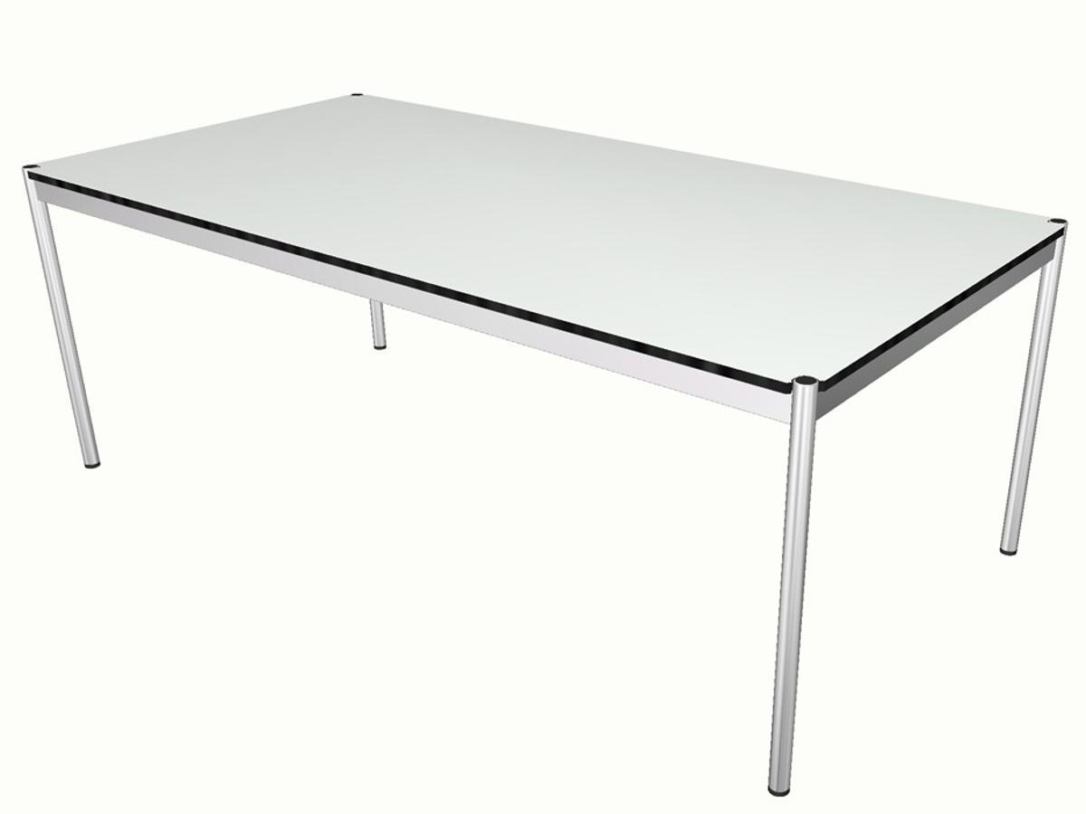 Grande table usm blanche adopte un bureau