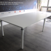 table de reunion blanche