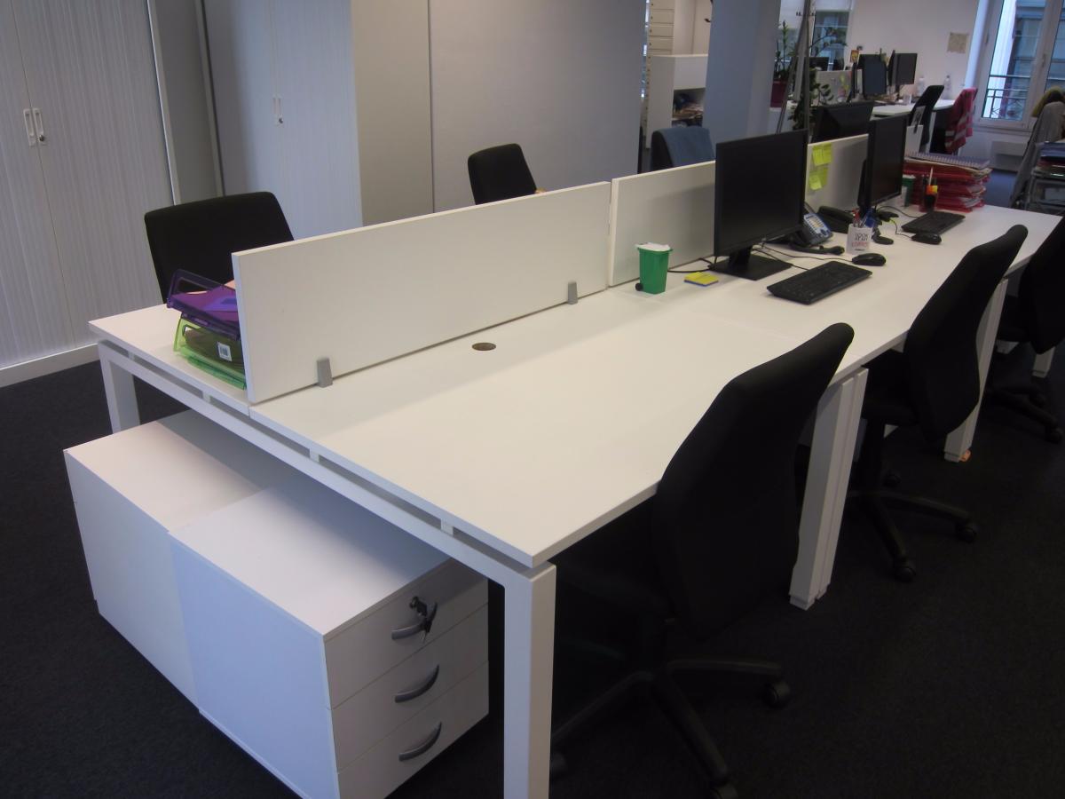 bench 2 personnes blanc 140x80 adopte un bureau. Black Bedroom Furniture Sets. Home Design Ideas