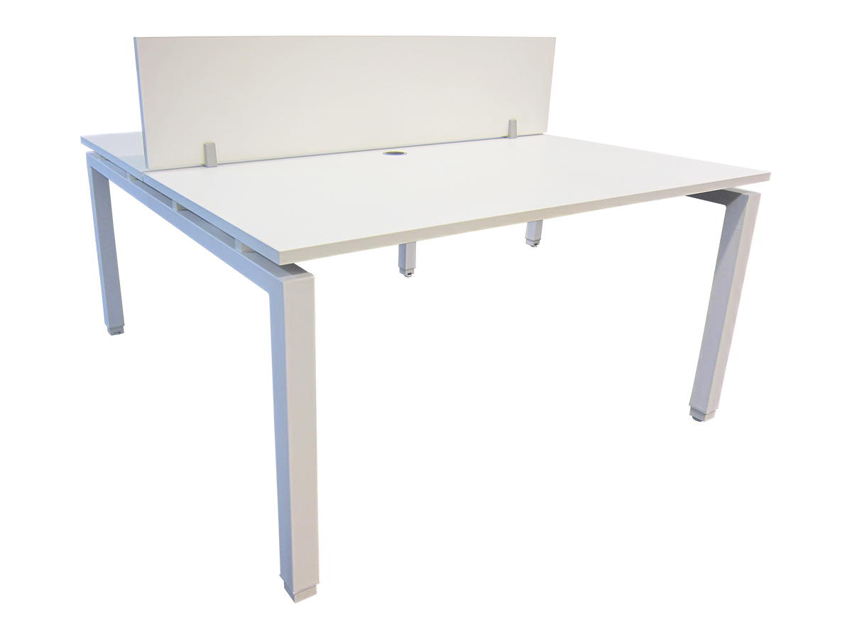 Bench 2 personnes blanc 140x80 adopte un bureau for Mobilier bureau 2 personnes
