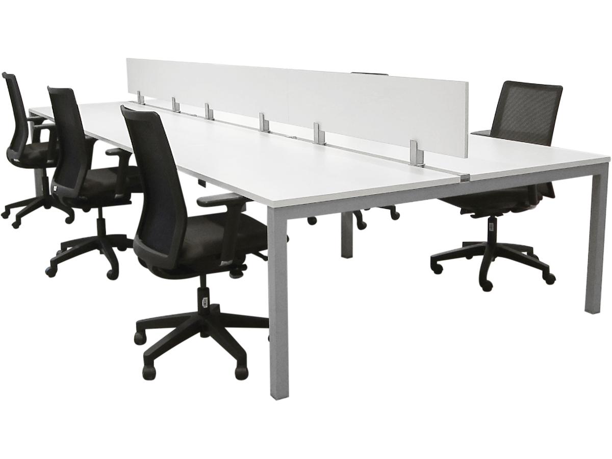 bench 6 personnes 140x80 blanc occasion adopte un bureau. Black Bedroom Furniture Sets. Home Design Ideas