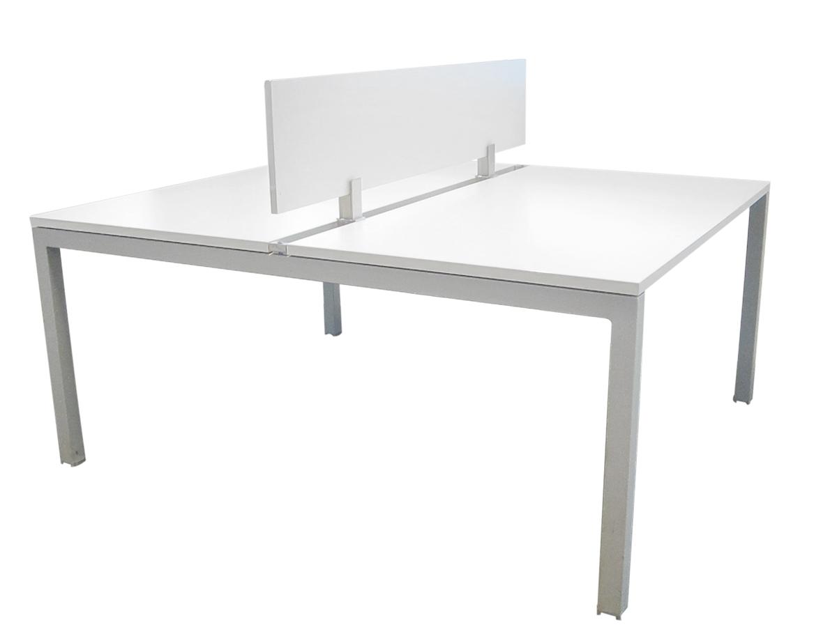 Bench 2 personnes 140x80 blanc occasion adopte un bureau for Mobilier bureau 2 personnes