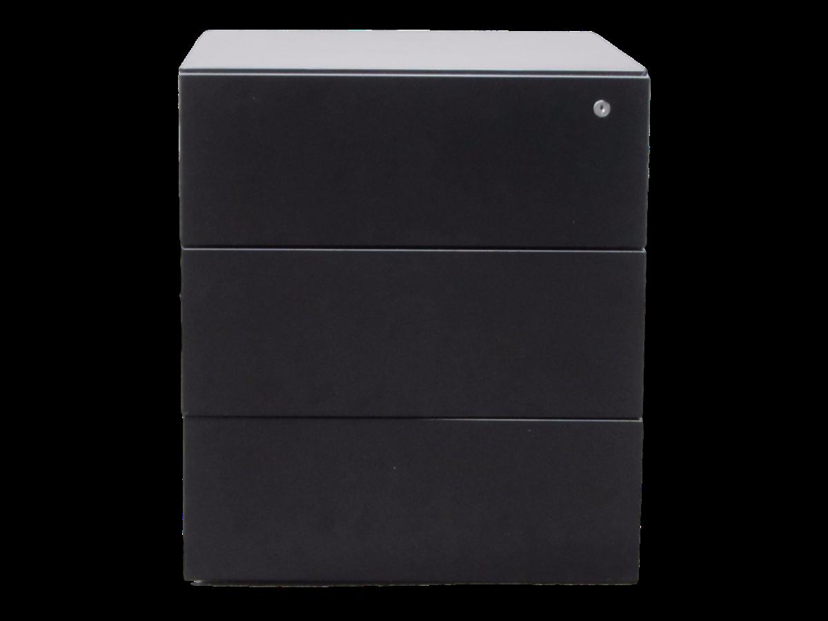 Caisson bureau noir photo caisson bureau noir roulettes for Rangement bureau noir