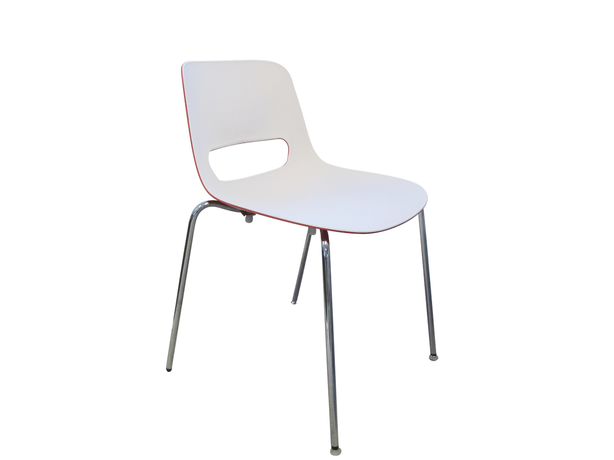 Chaise de r union blanche et rouge occasion adopte un for Chaise rouge