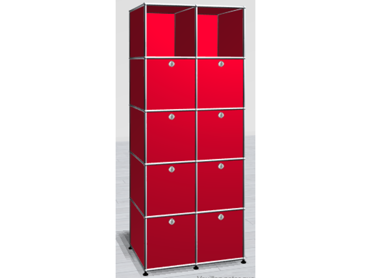 Rangement usm 10 cases adopte un bureau for Meuble usm occasion