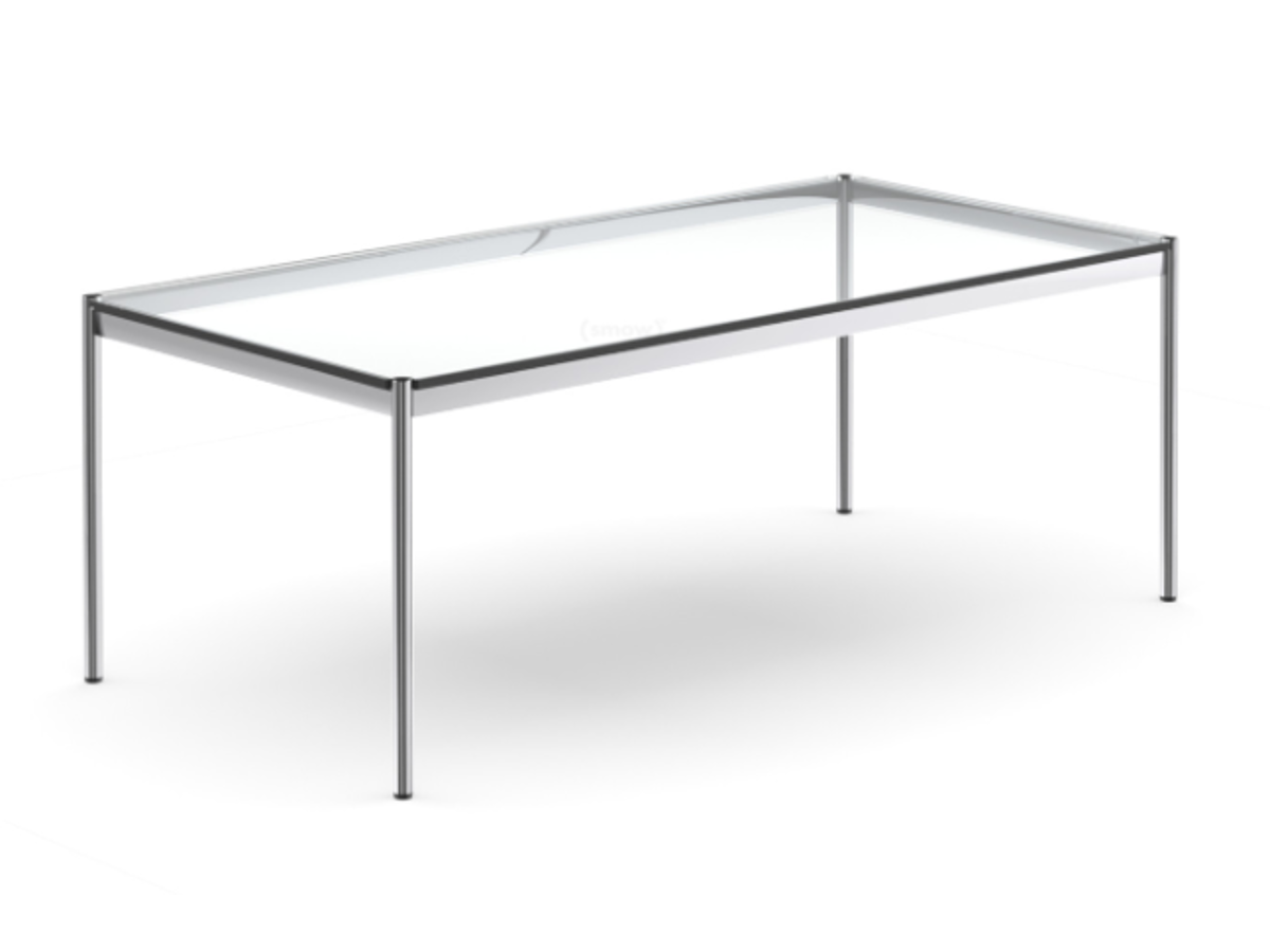 table usm haller verre transparent occasion adopte un bureau. Black Bedroom Furniture Sets. Home Design Ideas