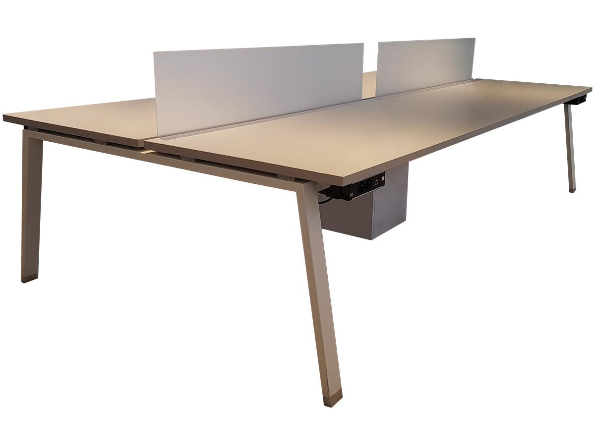 bench 4 personnes 160x80 adopte un bureau. Black Bedroom Furniture Sets. Home Design Ideas