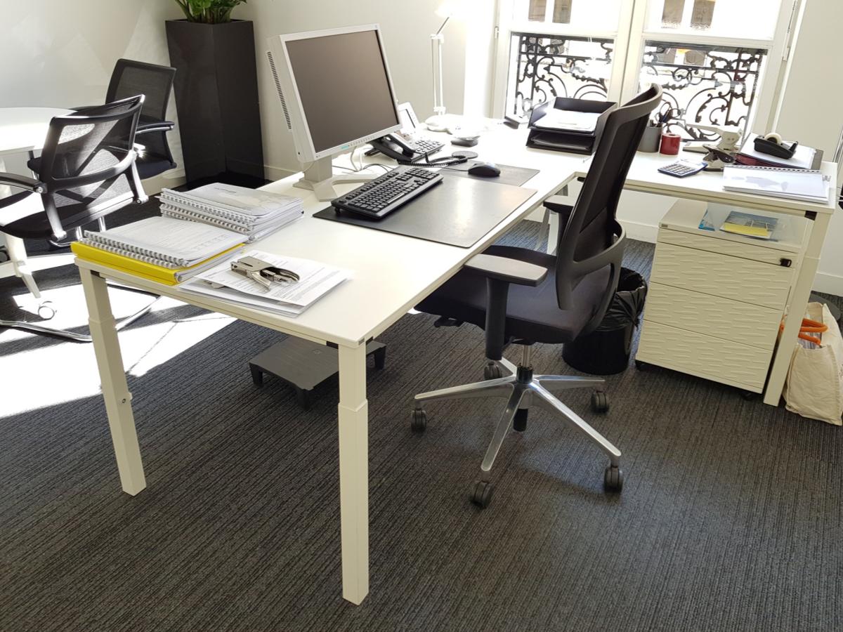 bureau blanc 200x80 occasion adopte un bureau. Black Bedroom Furniture Sets. Home Design Ideas
