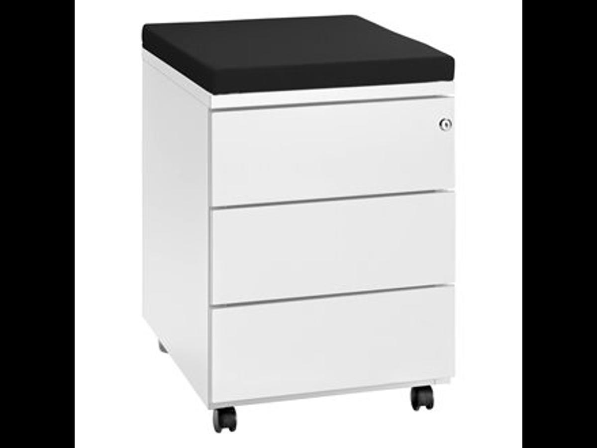 caisson blanc 3 tiroirs adopte un bureau. Black Bedroom Furniture Sets. Home Design Ideas