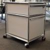 USM Haller meuble roulette caisson deux tiroir tiroirs gris clair beau modulable