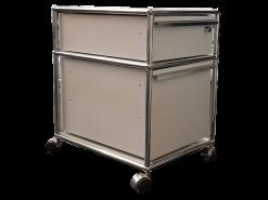 USM-Haller meuble roulette caisson deux tiroir tiroirs gris clair beau modulable