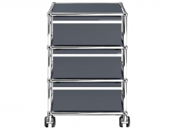 USM Haller meuble roulette caisson trois tiroir tiroirs gris anthracite imtemporel elegant classique qualite