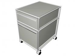 USM Haller meuble roulette caisson trois tiroir tiroirs gris clair modulable