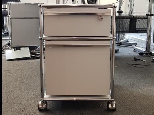 USM Haller meuble roulette caisson trois tiroir tiroirs gris clair pratique modulable