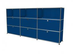 meuble usm 9 cases bleu