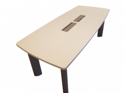 table de réunion tonneau
