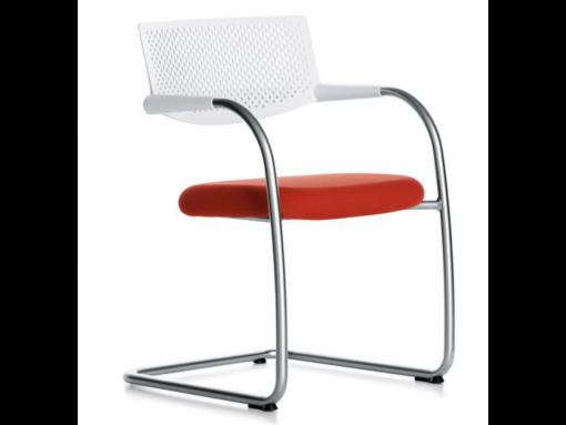 chaise visiteur rouge vitra