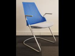 Chaise de réunion Saul bleue