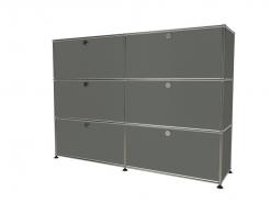 USM 6 cases gris moyen
